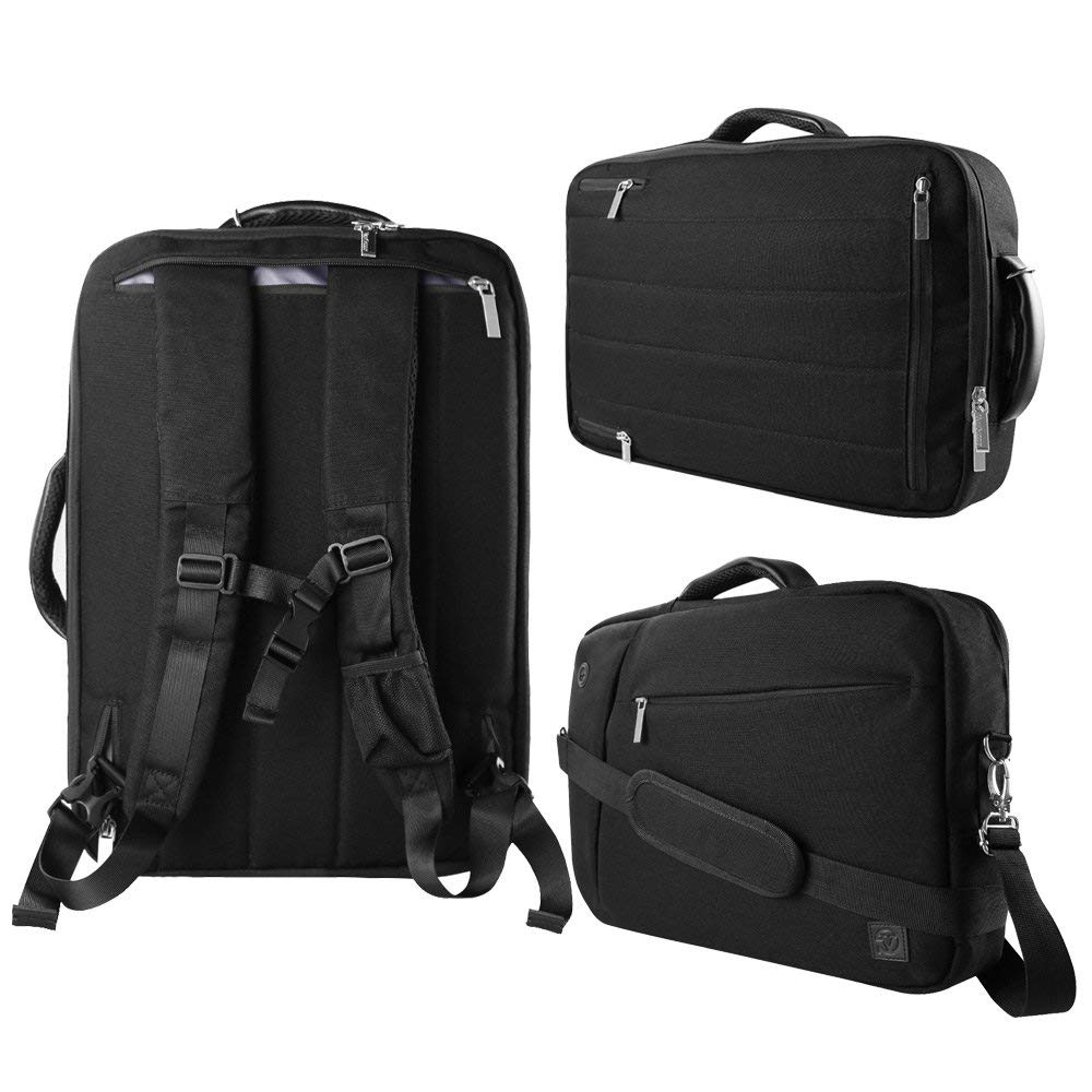 """Black 10"""" to 12-inch Convertible Laptop Bag for HP"""