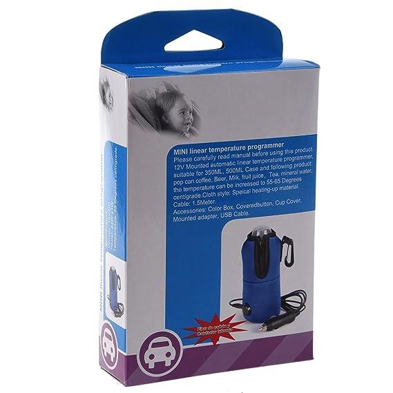 TOOGOO(R) DC 12V bebe Vehiculo Kids Car viajes Alimentacion Leche Botella de agua del calentador de la taza del USB: Amazon.es: Juguetes y juegos