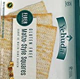 Yehuda Fiber Enriched Gluten Free Matzo Style Squares Kosher For Passover 10.5 oz. Pack of 6