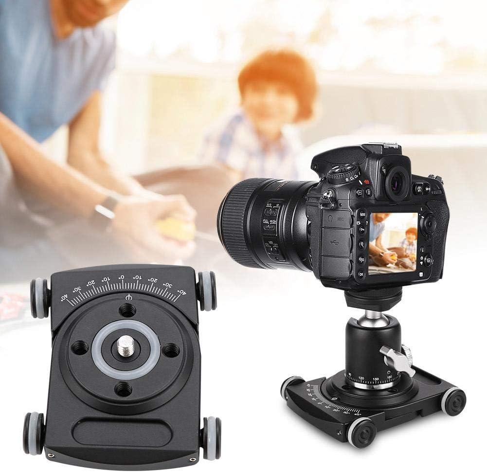 Acouto Tabletop Top Dolly Car Roller Desktop Video Rail Track Slider DSLR Rig Film Camera