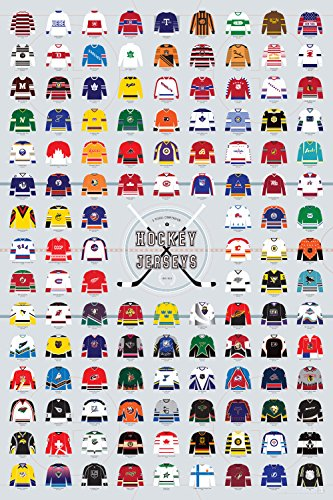 Pop Chart Lab A Visual Compendium of Hockey Jerseys Poster P