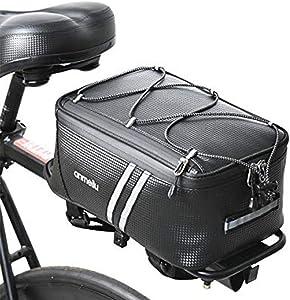 ANMEILU Bicycle Bags for Rear Rack Bike Pack Accessories Bike Bag PU(Poly Urethane) Waterproof 7Liter
