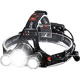 Headlamp Rechargeable Headlamps 6000 High Lumens Super Brightest Head Lamp for Adluts Kids Waterproof Headlight 4 Modes Light