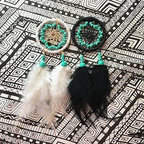 Turquoise Dreamcatcher - Rear view Mirror Accessory - FREE SHIPPING - Car Dream Catcher