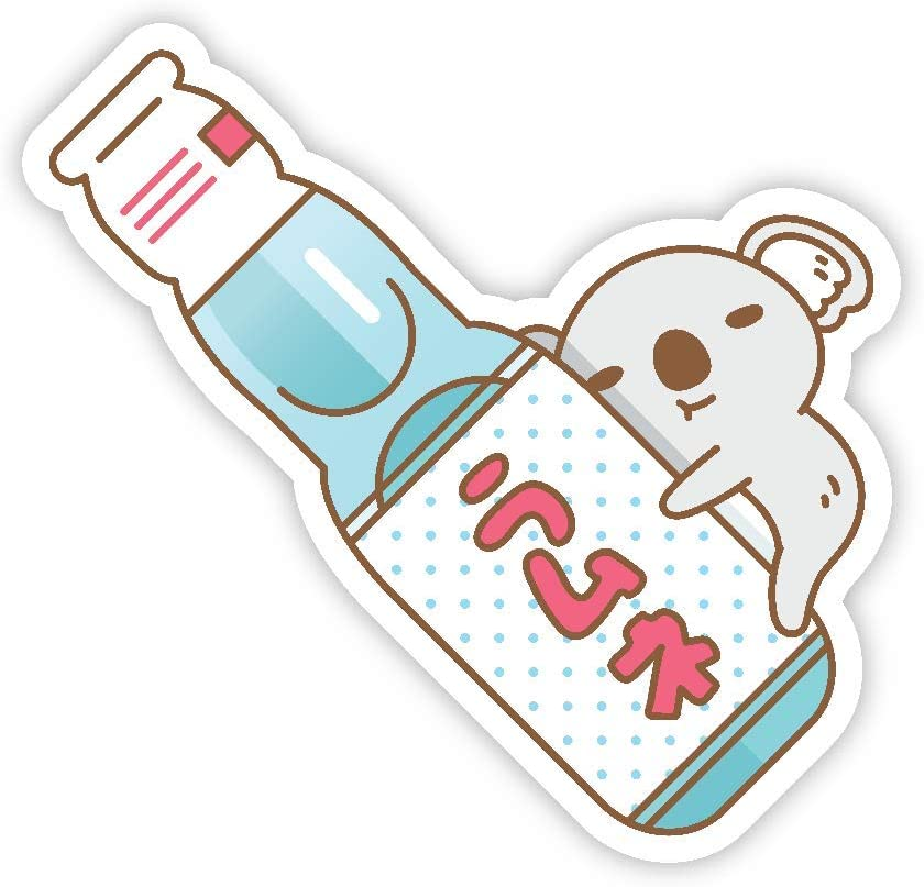 Baby Koala with ramune Japanese soda Vinyl Sticker for Laptop and Water Bottles