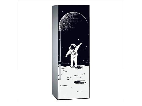 Oedim Vinilo para Frigorífico Astronauta Luna 185 x 60 cm | Adhesivo Resistente y de Fácil