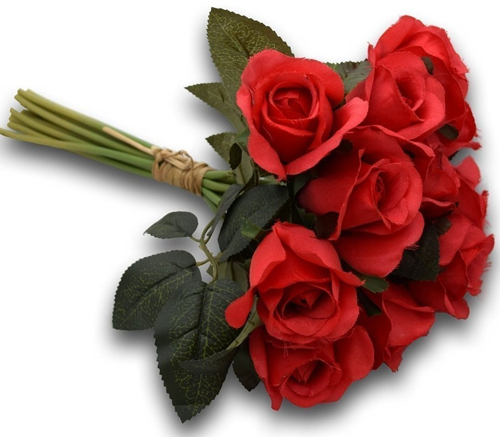 Buy Fourwalls Artificial Rose Bunch (12 Flowers, Red) Online At Low Prices  In India   Amazon.in