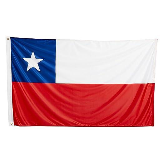 Naicasy Bandera de Chile 90 x 150 cm
