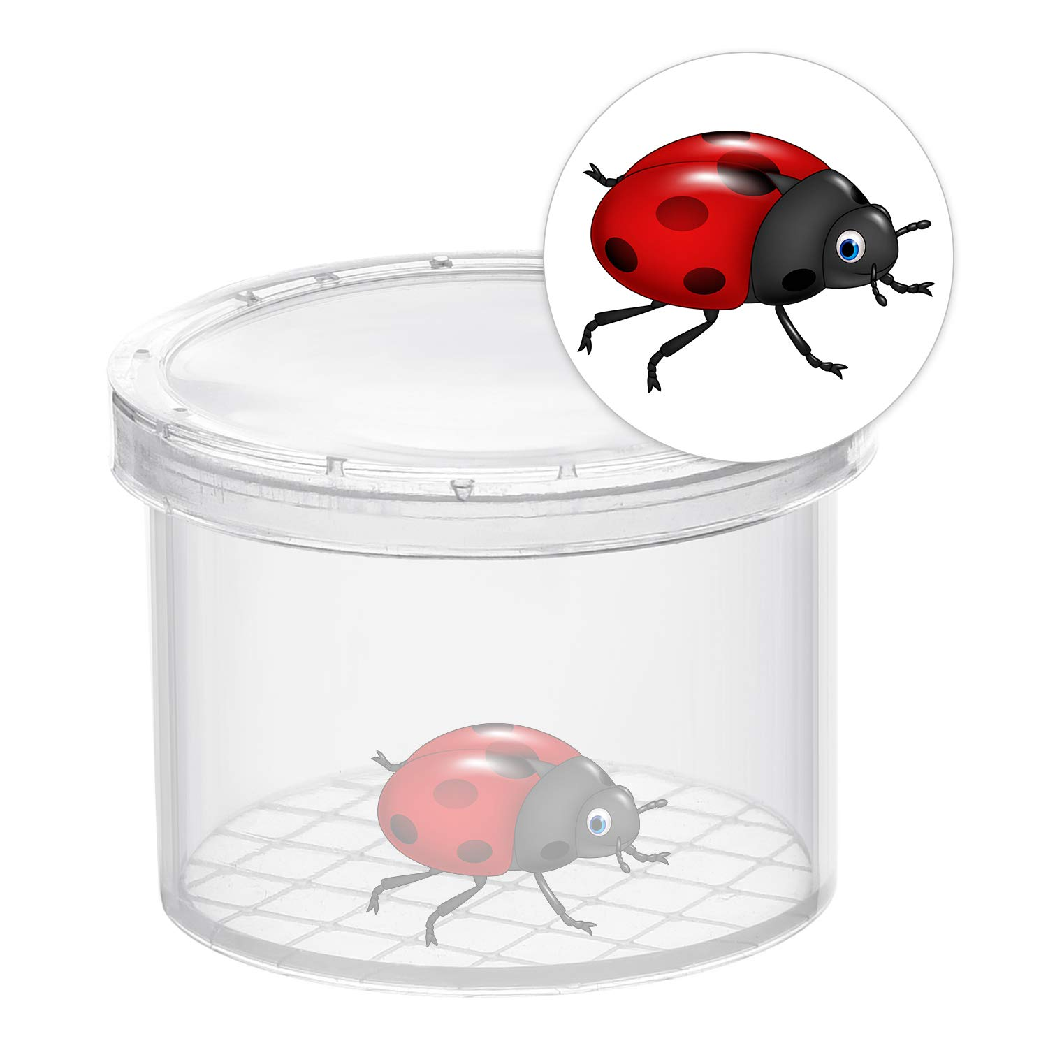 Kids Science Nature Exploration Toys Coopay 16 Pieces Bug Viewer Critter Insect Cage Magnifying Insect Box Bug Magnifier Container Bug Catcher Cage