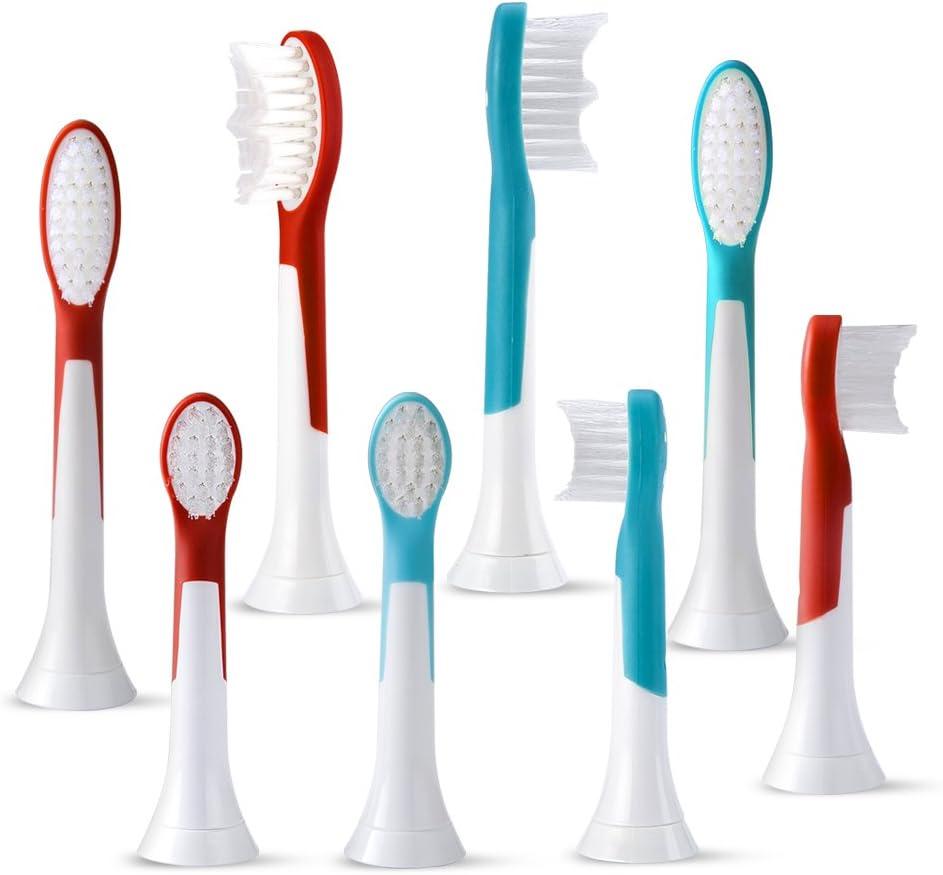 ubor 8 pcs (2 x 4) cabezales para cepillo de dientes eléctrico Philips Sonicare ProResults Cabezales de recambio para cepillo de dientes eléctrico cabezales de repuesto, incluyen HX6034/44: Amazon.es: Salud y cuidado personal