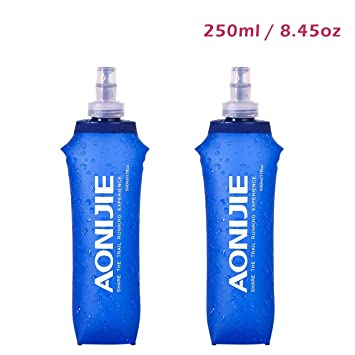 TPU Soft Reservoirs Running Water Bottles BPA-Free Leak-Proof for Hydration Pack -