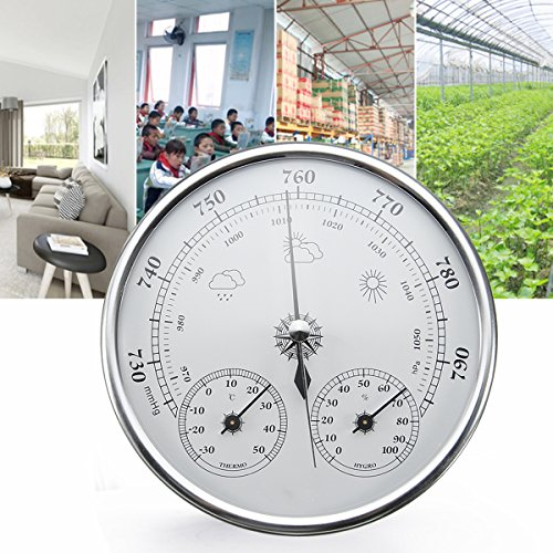 INNI Wall Hanging Weather Forecast Thermometer Hygrometer Air Pressure Meter-30~+50 0~100% Rh 960~1060hPa by INNI (Image #1)