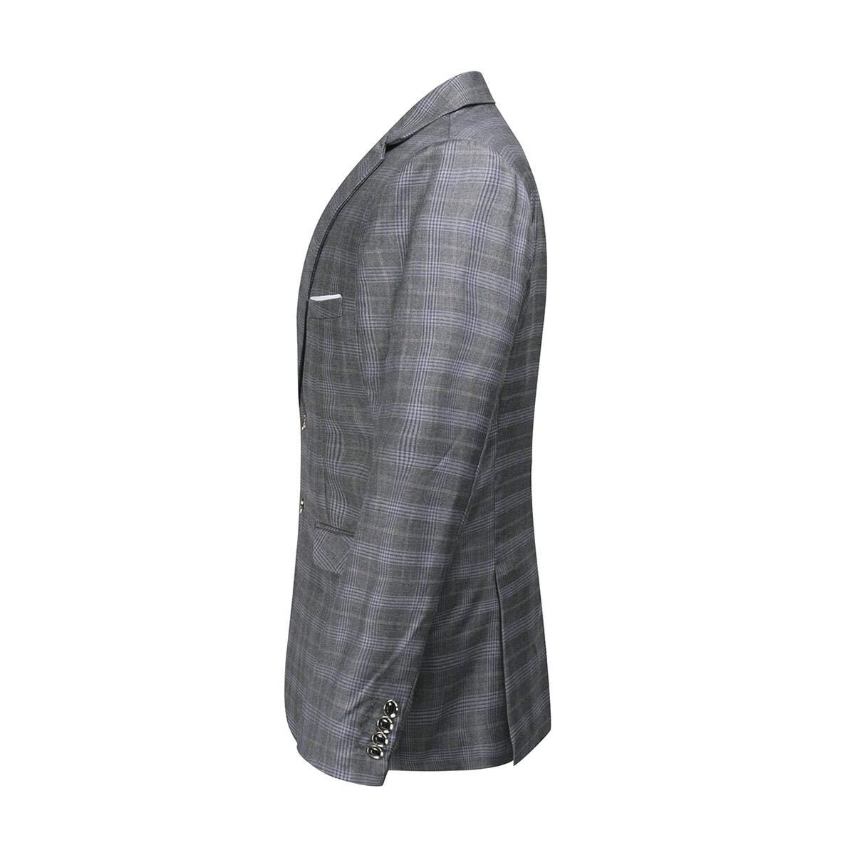 Sliktaa Haut de Costume Homme 3 Pièces Classique Formel Smoking de Mariage  Business et Bal Veste Pantalon et Gilet 77f248a481c
