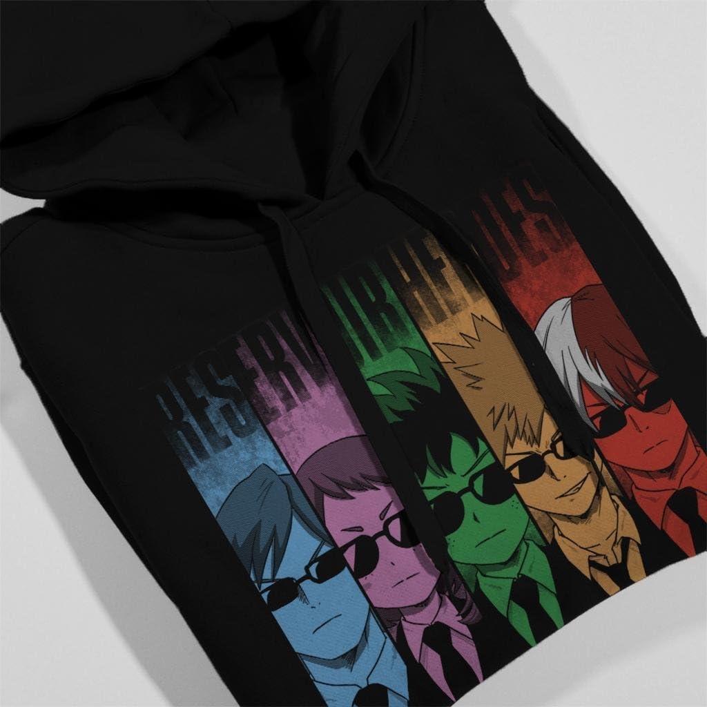 Cloud City 7 My Hero Academia Resevoir Dogs Mix Womens Hooded Sweatshirt