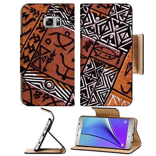 Simple Ethnic Costumes (Liili Premium Samsung Galaxy Note 5 Flip Pu Leather Wallet Case aboriginal design from a native cloth Photo 306665 Simple Snap Carrying)