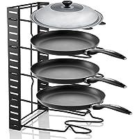 Pan Organizer Rack, 5 Tier Kitchen Saucepan Frying Pan Stand Holder Organiser Storage Rack Shelf