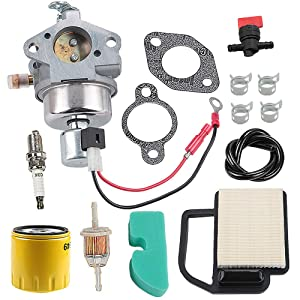 Harbot 20 853 35-S 20-853-35-S Carburetor + 52 050 02-S Oil Filter + 20 083 06-S Air Filter for Kohler SV540 SV590 SV600 SV610 SV620 18HP 19HP 20HP 21HP 22HP Cub Cadet Lawn Mower with Fuel Filter Line