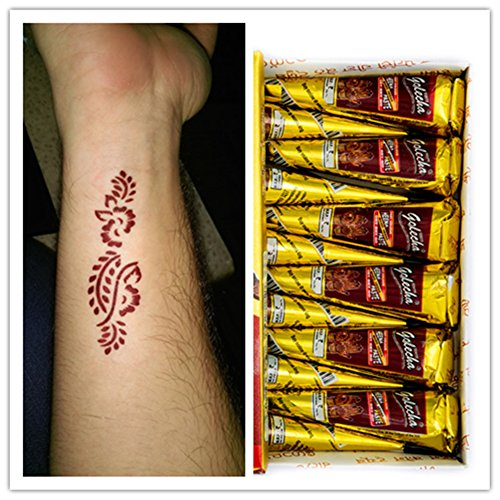Price comparison product image Safe Healthy Beautiful and Elegant Tattoo Cream Natural Maroon Portable Tattoo Paste Cone Body Art Painting