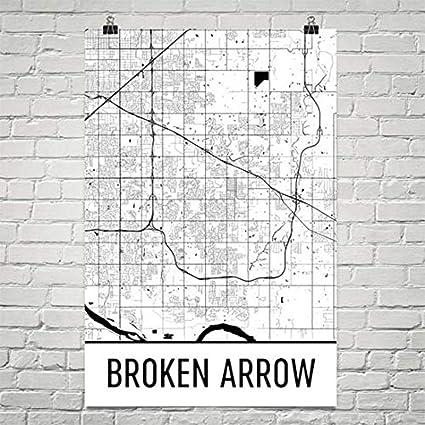 Amazon.com: Broken Arrow Map, Broken Arrow Art, Broken Arrow Print ...