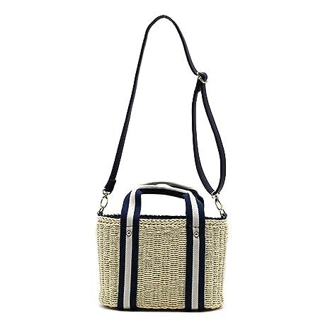 3c645b8d8176 Amazon.com: SHZONS Bamboo Handbag, Woven Handmade Tote Purse Straw ...