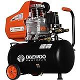 Daewoo DAC24D Compresor eléctrico 220 V, Negro/Naranja 2 HP, 195 L/