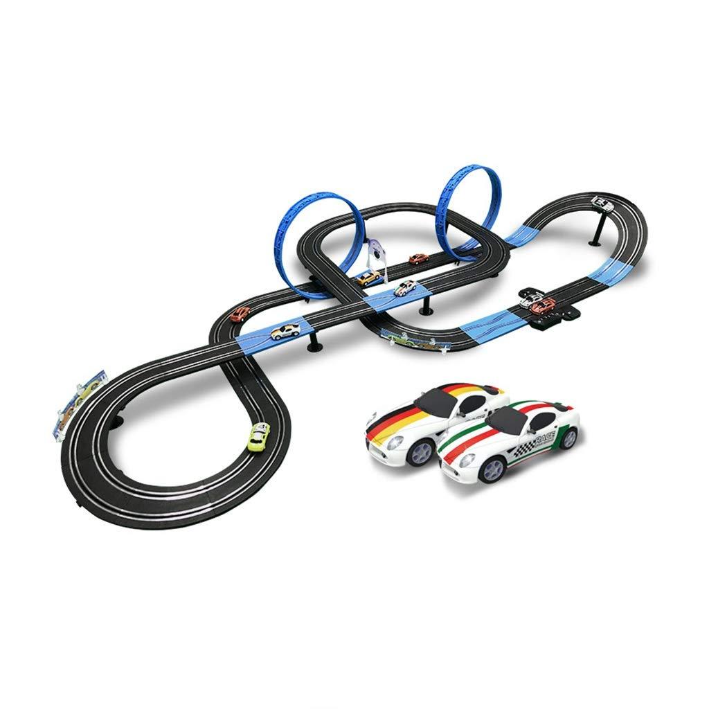 Electric 8 voitures 8.4m LINGLING-Piste Voiture Télécomhommedée Mr électrique Manivelle Roller Coaster Jouets pour Enfants Jouets Interactifs Parent-Enfant électrique +8 Voiture   4 Voitures