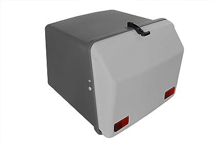 Portaequipajes Moto baúl Reparto Gris con Reflectantes homologados, Cierre de Goma: Amazon.es: Coche y moto