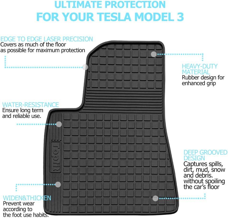 Topfit Model 3 Tappetini impermeabili Tappetino in pelle PU Tappeto completamente circondato per il model 3