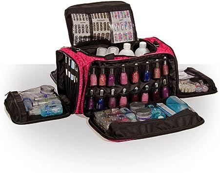 Roo - Neceser para Maquillaje, esteticistas y manicuristas, Estuche Profesional para cosméticos con diseño glamuroso, Color Rosa Imperial: Amazon.es: Equipaje