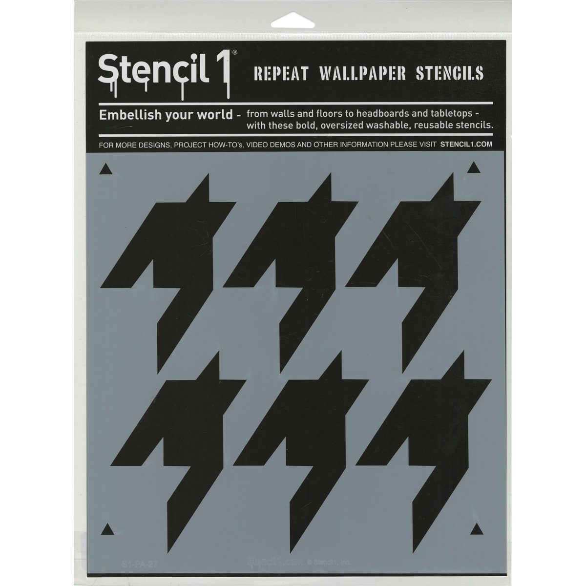 Amazon stencil1 houndstooth stencil 11 x 11 amipublicfo Image collections