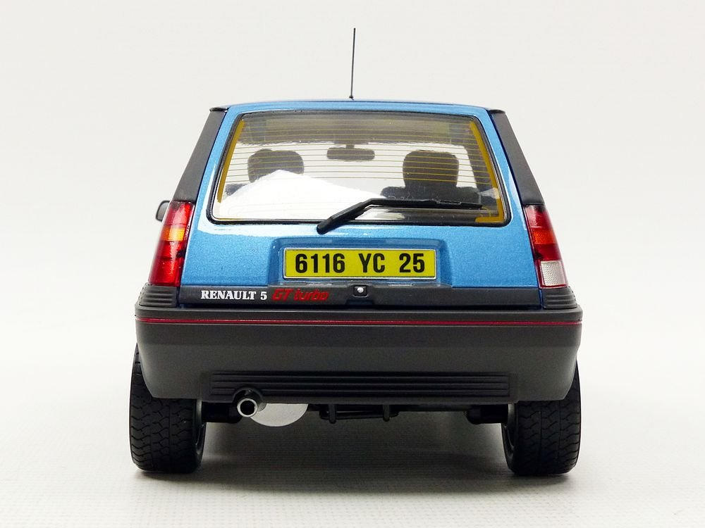 Amazon.com: Norev – Renault 5 GT Turbo Phase 1 1986 Miniature Vehicle, 185207, Blue Metal, Scale 1: 18: Toys & Games