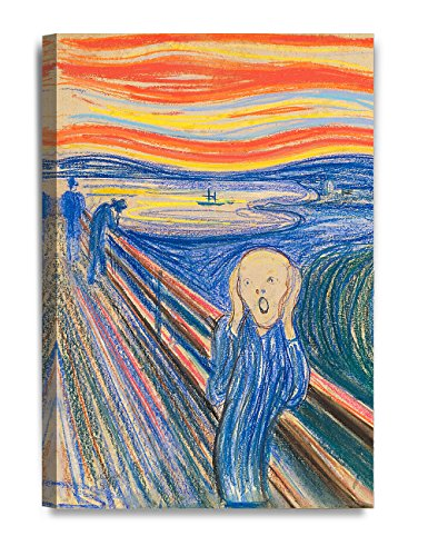 DecorArts - The Scream by Edvard Munch, Giclee Canvas Print Reproductions for Home Wall Decor. 16x24""