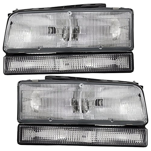 Driver and Passenger Combination Headlights Headlamps Replacement fits 92-96 Buick LeSabre 91-96 Park Avenue 16523429 (Buick Park Avenue Headlight Drivers)