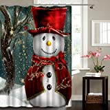 Christmas Bathroom Decor Get OrangeMerry Christmas Shower Curtain Xmas Bathroom Decor Santa Claus Waterproof Mildewproof Polyester Shower Curtain with 12pcs Plastic Hooks , 72