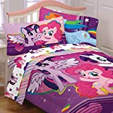 My Little Pony 5pc Full Comforter and Sheet Set Bedding Collection Purple Pink