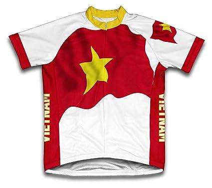Vietnam Flag Short Sleeve Cycling Jersey for Men Jerseys Cycling