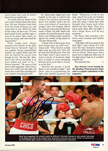 Diego Corrales Authentic Autographed Signed Magazine Page Photo S48433 PSA/DNA Certified Autographed Boxing Magazines