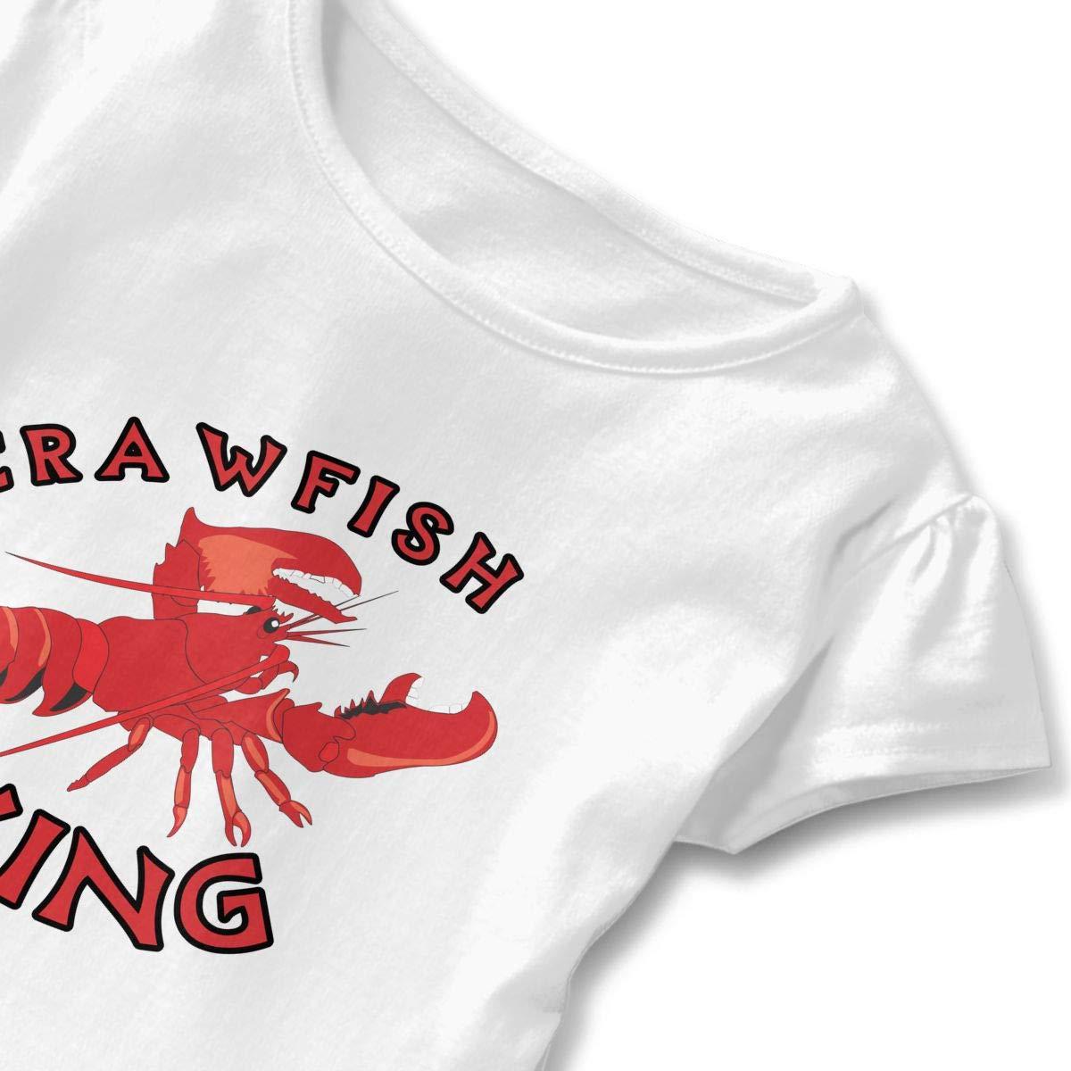 Crawfish King Toddler Baby Girls Short Sleeve Ruffle T-Shirt