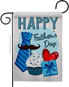 Breeze Decor Happy Father's Day Garden Flag Family Dad Daddy Papa Grandpa Best Parent Sibling Relatives Grandparent House Decoration Banner Small Yard Gift Double-Sided, Made in USA 13 X 18.5