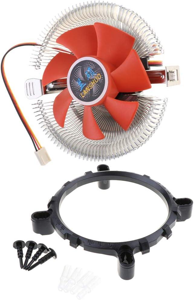 Almencla Ventilador único para Enfriador De CPU para PC 12V DC con Rodamiento De Fluido De Cable De 3 Pines N. ° 4: Amazon.es: Electrónica