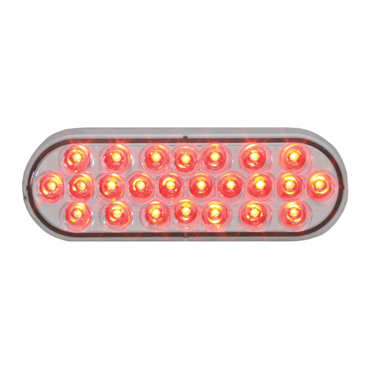 GG Grand General 78234BP Sealed Light (Oval Pearl Red/Clear 24-LED) by GG Grand General