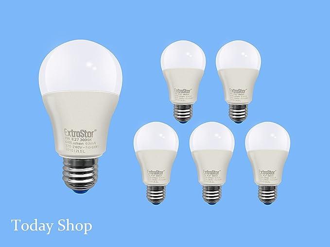 Bombilla LED E27, 10 W (80 W), 800 lúmenes, luz cálida