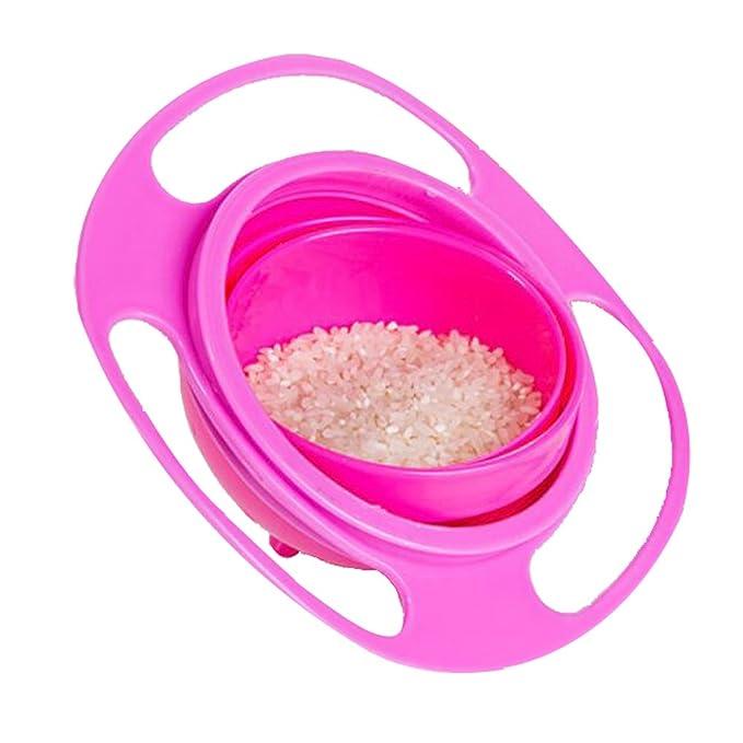 360 rotación de bebé alimentación Bowl Non Spill Gyro plato infantil para niños los niños rosa rosa: Amazon.es: Bebé