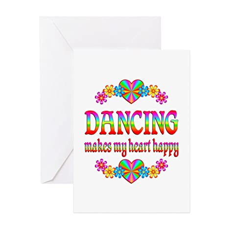 Amazon Com Cafepress Dancing Happy Greeting Card 20 Pack
