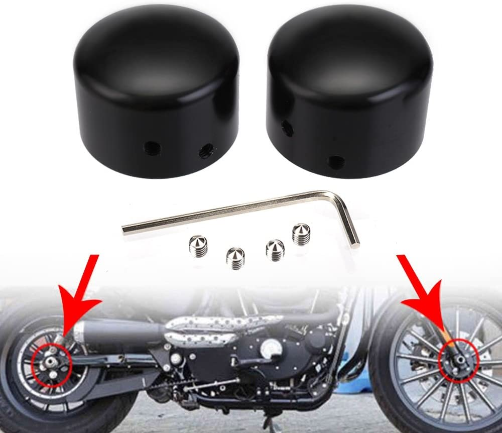 Front Axle Nut Cover for Harley Dyna Fatboy Electra Street Glide Road King Black