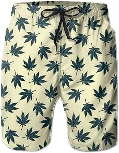 saletopk Marihuana Weed Leaf Concise Swim Trunk Hombres Polo ...