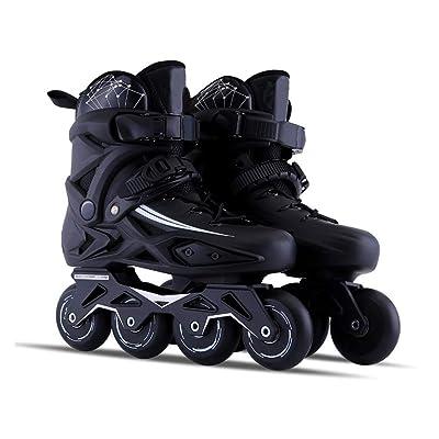 Sljj Outdoor Adult Black Professional Roller Inline Skates, Comfortable Freestyle Racing Skates for Women and Youth (Color : Black, Size : 43 EU/10 US/9 UK/26.5cm JP): Home & Kitchen