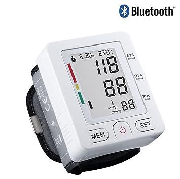 hrrh totalmente integrado Bluetooth automática muñeca Tensiómetro digital LCD Inteligente Pulse de presión arterial Monitor Memoria Memoria medicinal de ...