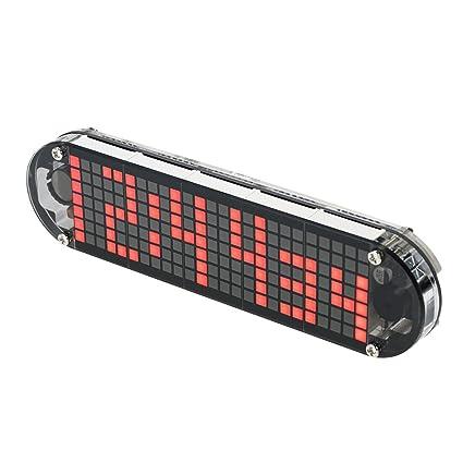 KKmoon DS3231 Alta precisión bricolaje Digital Dot Matrix LED reloj despertador Kit con caja transparente temperatura