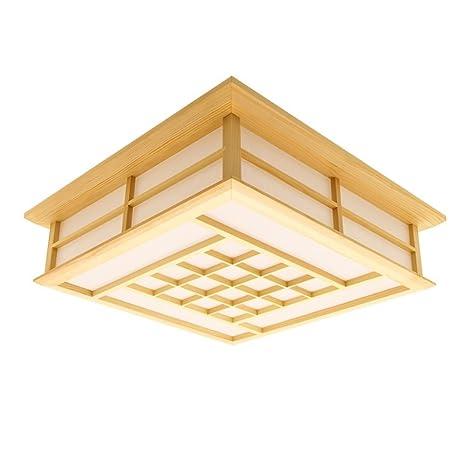 lyxg de 18 W de estudio con brillantes de madera muebles plafón LED luces de japonesas